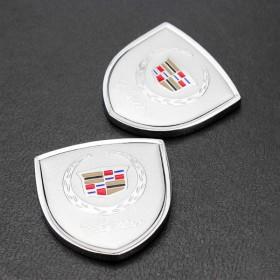 Шильдики с логотипом на задние стойки дверей Кадиллак