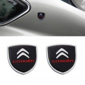 Шильдики с логотипом на задние стойки Citroen