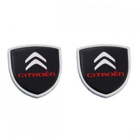 Шильдики с логотипом на задние стойки дверей Ситроен