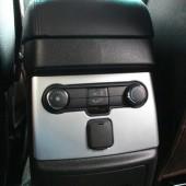 Накладка на консоль задних пассажиров обновленного Explorer