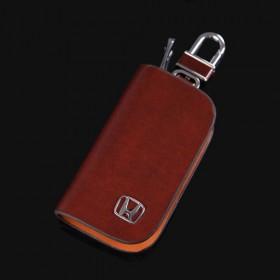 Кожаный чехол для ключа с логотипом Хонда