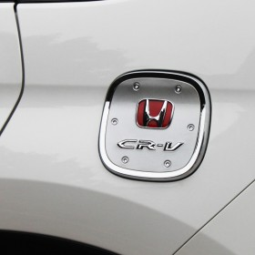 Хромированная накладка на лючок бензобака Хонда срв