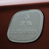 Накладка на лючок бензобака Outlander (2 варианта)