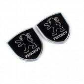 Шильдики с логотипом на задние стойки Peugeot