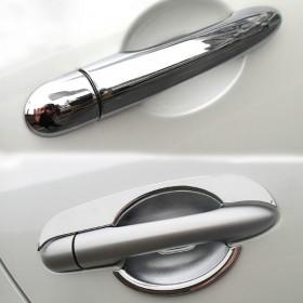 Хром-накладки на ручки дверей для Рено Колеос