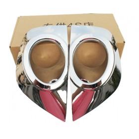 Хром накладки на передние туманки Рено Колеос 11-