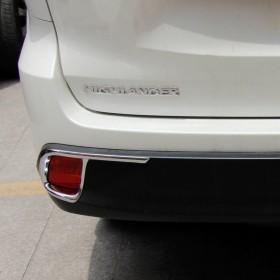 Хром накладки на катафоты Тойота Хайлендер 2014-