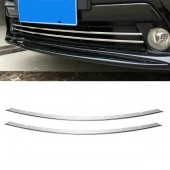 Накладки на решетку переднего бампера Prius