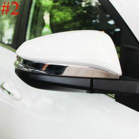 Хром молдинги на зеркала Тойота рав4