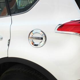 Хромированная накладка на лючок бензобака Тойота рав4