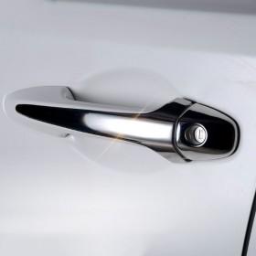 Хромированные накладки на ручки дверей Тойота рав4