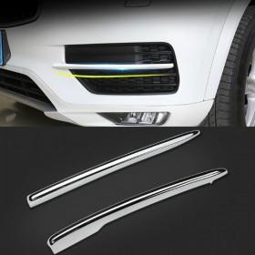 Хром накладки на решетки переднего бампера Вольво XC90