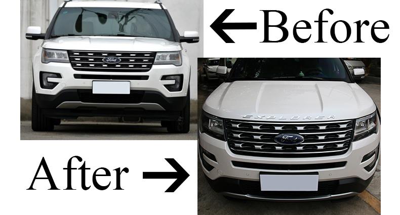 For New Ford Explorer 2016 Metal Zinc Sport Hood Emblem