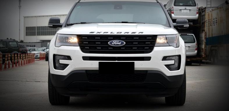 2011 2017 Ford Explorer Sport Silver Black Hood Emblem