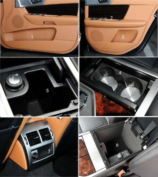 2010 Jaguar Xf Interior: 10pcs Non Slip Door Slot Cup Mat Storage Interior Mats For