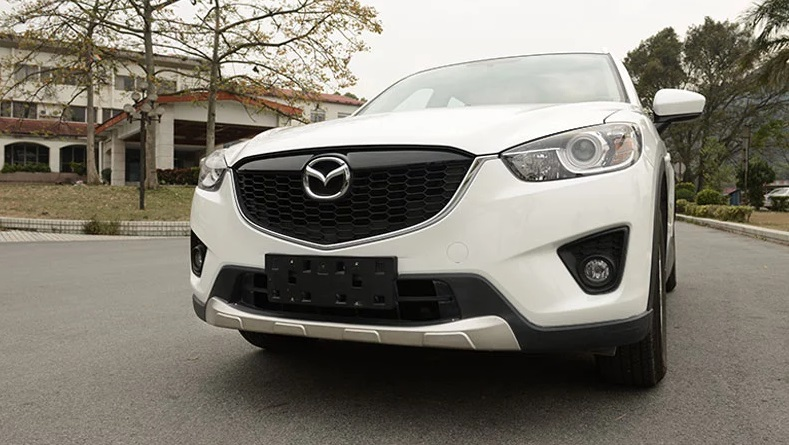 stainless steel front rear bumper protector plate for mazda cx 5 cx5 2012 2016 ebay. Black Bedroom Furniture Sets. Home Design Ideas