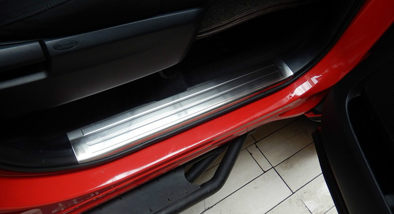 For Honda Crosstour 2010-2015 Stainless Door Sill Scuff Plate Cover Outside 4Pcs